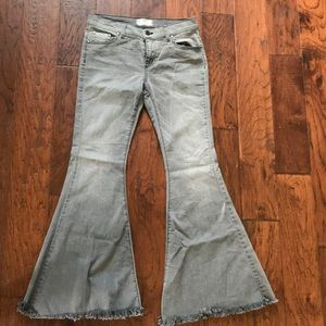 Free people dark wash flare jeans!!